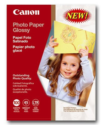 Photo Paper Glossy, 8.5 x 11 Inches, 100 Sheets (0775B024)