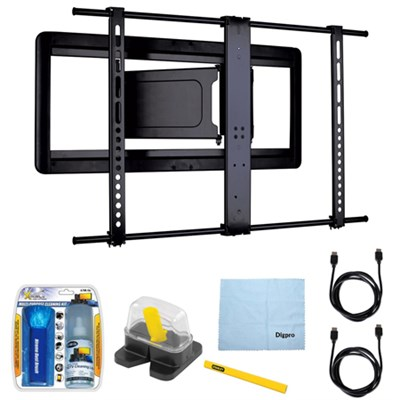 Slim Full-motion TV Mount for 51`-80` Flat-panel TVs w/ Accessories Bundle