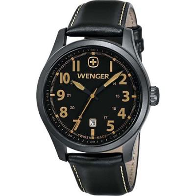 Men's Terragraph Watch - Black Dial/Black Leather Strap