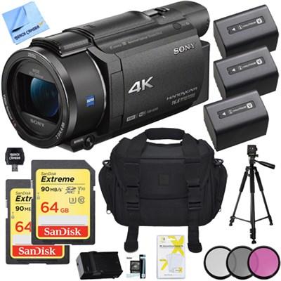 FDR-AX53/B 4K Handycam Camcorder with Exmor R CMOS Sensor Deluxe Bundle