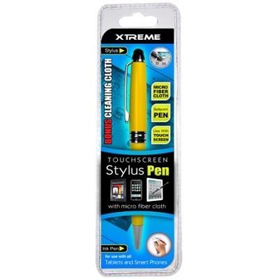 Touch Screen Stylus Pen w/ Micro Fiber Cloth - Yellow