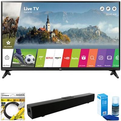 49` Class Full HD 1080p Smart LED TV 2017 Model 49LJ5500 + Sound Bar Bundle