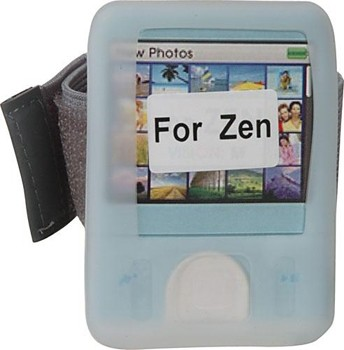 Protective silicone skin for Creative ZEN (Clear)