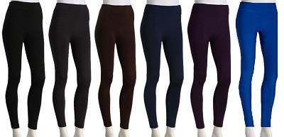 3-Pack Fleece Leggings (1 Dark Grey, 1 Brown, 1 Purple) 1X/2X