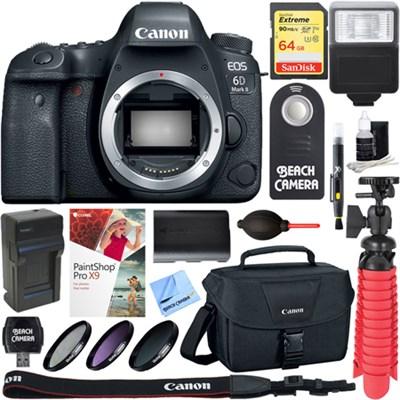 EOS 6D Mark II 26.2MP Full-Frame Digital SLR Camera Body + 64GB Accessory Bundle