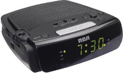 RC05 Dual Wake Alarm Clock Radio (Black)
