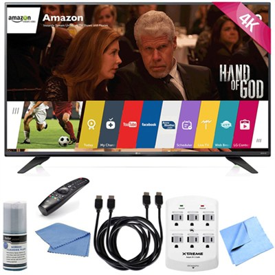 43UF7600 - 43-Inch 2160p 120Hz 4K Ultra HD Smart LED TV w/ WebOS Hook-Up Bundle