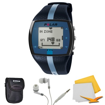 FT4 Heart Rate Monitor - Blue/Blue (90047622) Bundle