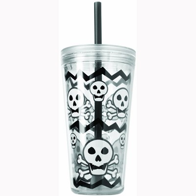 24-Ounce Minimus Skulls Tumbler, Gray (2510-0262)