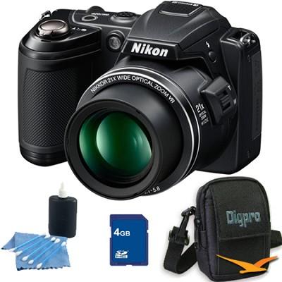 COOLPIX L120 Black Digital Camera 4GB Bundle