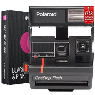 Polaroid 600 Square Camera w/ Auto Flash +Instant Film +Extended Warranty