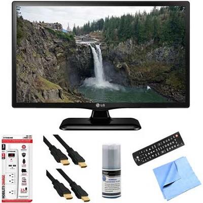 24LF4520 - 24-Inch HD 720p 60Hz LED TV Plus Hook-Up Bundle