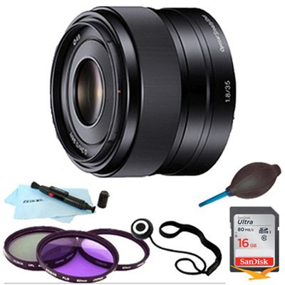 SEL35F18 - 35mm f/1.8 Prime Fixed Lens Essentials Bundle