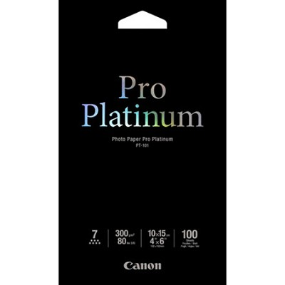 Photo Paper Pro Platinum 4`x6` 100 Sheets