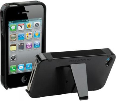 kickBACK Case for iPhone 4 (Black/Black)