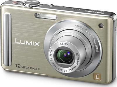 DMC-FS25N LUMIX 12.1 MP Compact Digital Camera w/ 3.0` Intelligent LCD (Gold)
