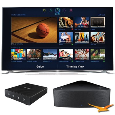 UN75F8000 - 75` 1080p 240hz 3D Smart LED HDTV with SHAPE Audio Bundle - Black