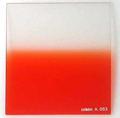 A663 Graduated Fluorescent Orange 2 Resin Filter - OPEN BOX