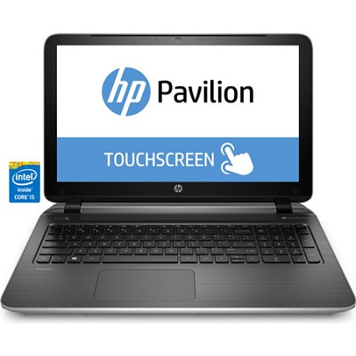 Pavilion TouchSmart 15-p020us 15.6` HD Notebook PC - Intel Core i5-4210U Proc.