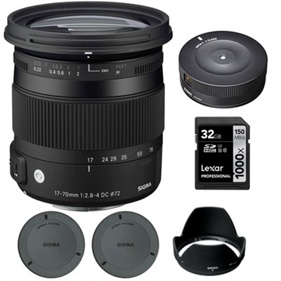 17-70mm F2.8-4 DC Macro OS HSM Lens for Canon Digital Cameras w/ Dock Kit