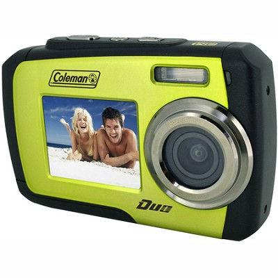 14MP Dual Screen Waterproof Digital Camera (Green) - 2V7WP-G