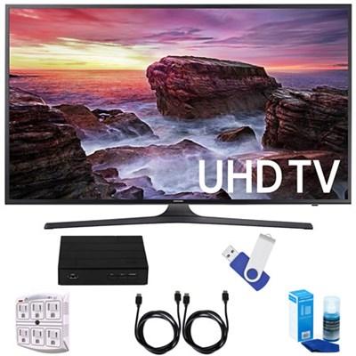 UN40MU6290 6-Series Flat 39.9` LED 4K UHD Smart TV w/ Deluxe Accessory Bundle