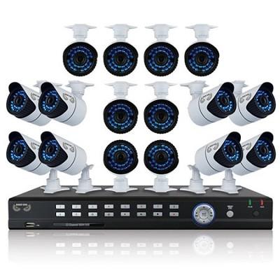 32 Channel Full 960H Pro DVR, 2 TB HDD, 16x900 TVL Bullet Cameras