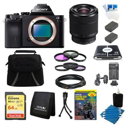 A7R (Alpha 7R) Interchangeable Lens Camera Body 28-70mm Lens Bundle