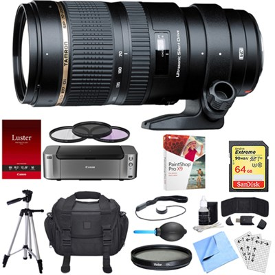 SP 70-200mm F/2.8 DI VC USD Telephoto Zoom Lens Canon Dual Mail in Rebate Bundle