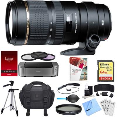 SP 70-200mm F/2.8 DI VC USD Telephoto Zoom Lens Canon Dual Mail in Rebate Bundle