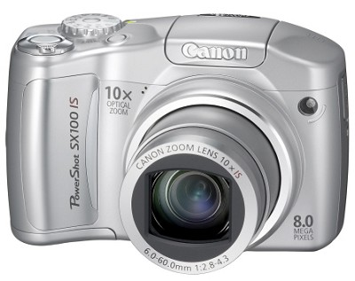Powershot SX100 IS 8MP Digital Camera (Silver)