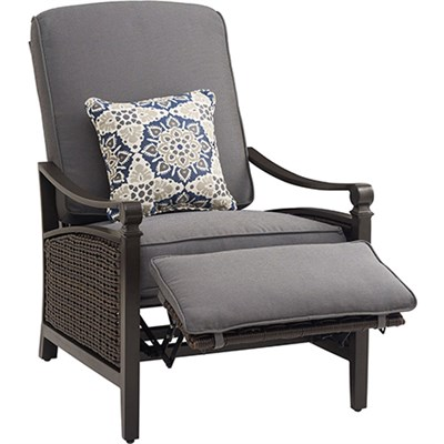 Outdoor Carson Luxury Outdoor Recliner in Indigo- CARSON-IND
