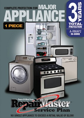 Repair Master Three (3) Year Extention Warranty for Appliances