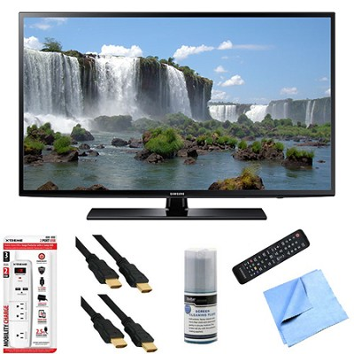 UN60J6200 - 60-Inch Full HD 1080p 120hz Smart LED HDTV Hook-Up Bundle