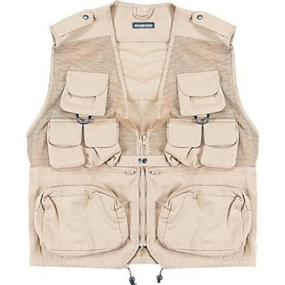 Combat Tactical Vest Khaki Medium