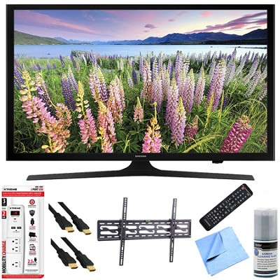 UN43J5000 - 43-Inch Full HD 1080p LED HDTV Tilt Mount & Hook-Up Bundle
