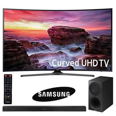 UN55MU6490FXZA Curved 54.6` LED 4K UHD SmartTV w/ Soundbar & Wireless Subwoofer