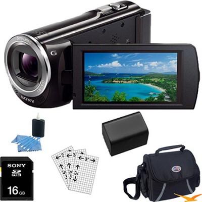 HDR-CX380/B 16GB Full HD Flash Memory Camcorder Essentials Bundle