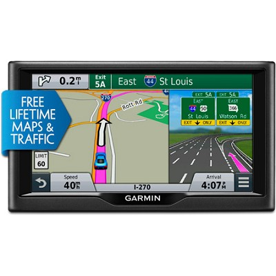 nuvi 68LMT 6.0` Essential Series 2015 GPS Navigation System w/ Maps & Traffic
