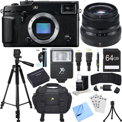 X-Pro 2 Mirrorless X-Trans CMOS III Digital Camera w/ Fujinon XF35mm Lens Bundle