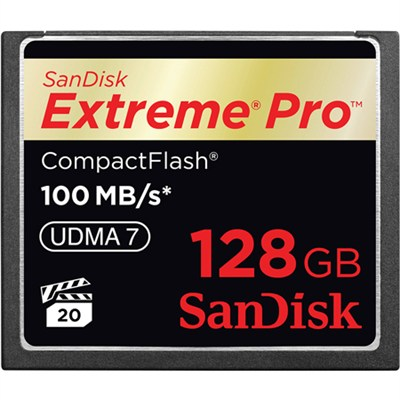 Extreme PRO CompactFlash 128GB Memory Card, UDMA 7, Up to 160 MB/s Read Speed