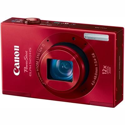 PowerShot ELPH 520 HS Red 10.1 MP CMOS Digital Camera 12x Optical Zoom