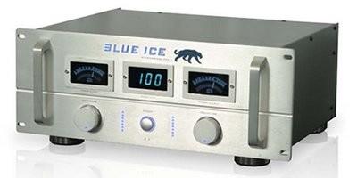 TP Pro Blue Ice 4U Amplifier W/ Multi Meters (Silver)