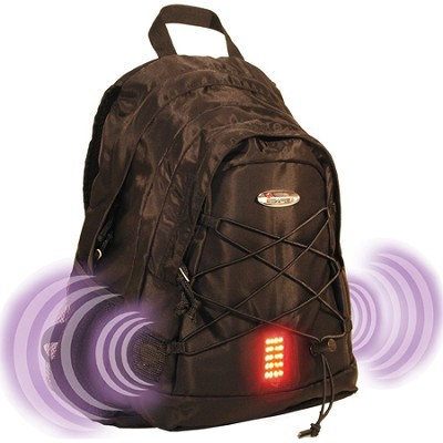 Guardian School/College Travel Nylon Laptop Shoulder Backpack/Bag - Black