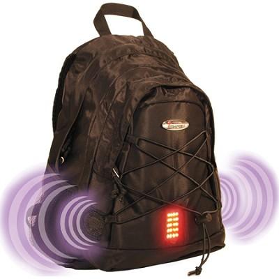 Guardian School/College Travel Nylon Laptop Shoulder Backpack/Bag - Black