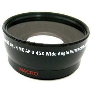 Pro .45x Wide Angle Lens w/ Macro 58mm threading (Black)