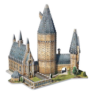 3D Hogwarts Great Hall Jigsaw Puzzle, 850-Piece