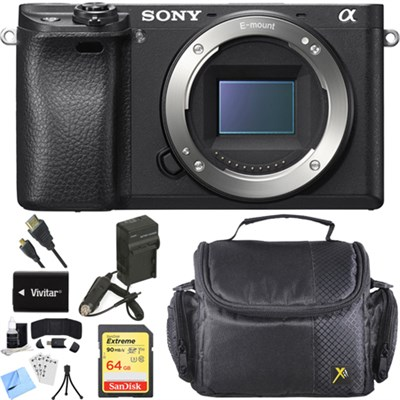 ILCE-6300 a6300 4K Mirrorless Camera Body with APS-C Sensor Accessory Bundle