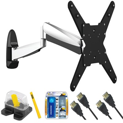 Large Interactive Full Motion TV Mount & Set Up Kit for 32`-55` TVs up to 66LB