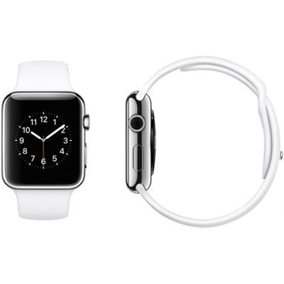 Apple Watch Sport 42mm Silver Aluminum Case - White Sports Band - OPEN BOX